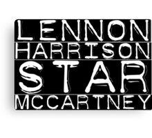 The Beatles Lennon Harrison Starr McCartney Canvas Print