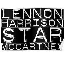 The Beatles Lennon Harrison Starr McCartney Poster