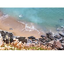 Bedruthan Beach from above Photographic Print