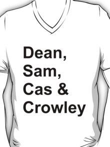 Dean, Sam, Cas & Crowley Supernatural T-Shirt