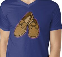 Boat Shoe Pink Watercolor Mens V-Neck T-Shirt