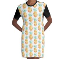 Pineapple  Graphic T-Shirt Dress