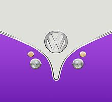 VW Camper Van Purple by Boback Shahsafdari