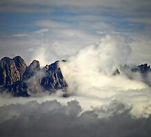 Clouds Washing Up On to  the Mountain Peaks in Las Cruces, New Mexico by David DeWitt