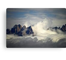 Clouds Washing Up On to  the Mountain Peaks in Las Cruces, New Mexico Canvas Print