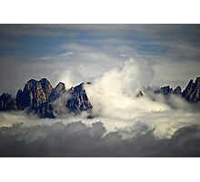 Clouds Washing Up On to  the Mountain Peaks in Las Cruces, New Mexico Photographic Print