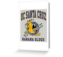 Santa Cruz Banana Slug Fiction Greeting Card