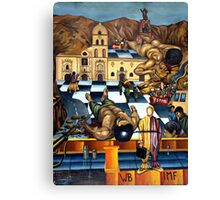 History On The Wall Canvas Print