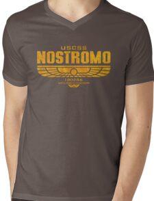 Alien Nostromo logo Mens V-Neck T-Shirt