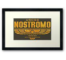 Alien Nostromo logo Framed Print