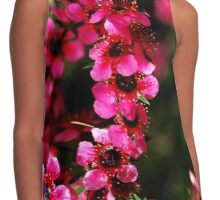 Hot Pink Flowers Contrast Tank