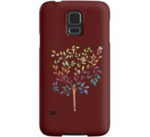 Tree with bird and cat Samsung Galaxy Case/Skin