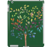 Tree with bird and cat iPad Case/Skin