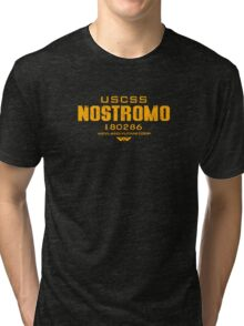 Alien Nostromo crest Tri-blend T-Shirt