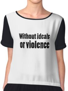 Bob Dylan Rock Lyrics Without Ideals Or Violence Chiffon Top