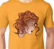 Red Haired Girl Unisex T-Shirt