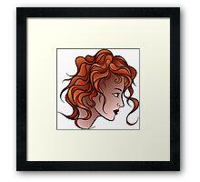 Red Haired Girl Framed Print