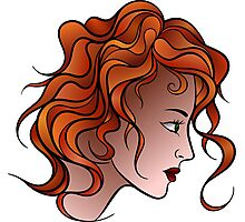 Red Haired Girl Photographic Print