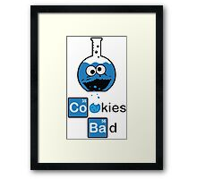 Cookies Bad Framed Print