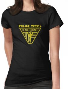 blade runner police crest Womens Fitted T-Shirt