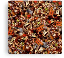 Donkey Kong Collage Canvas Print