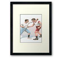 Vintage Boxing Manual Art Framed Print