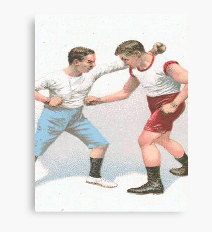 Vintage Boxing Manual Art Canvas Print