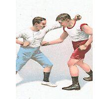 Vintage Boxing Manual Art Photographic Print
