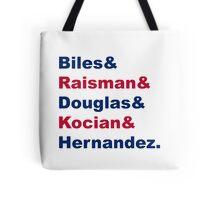 USA Gymnastics Team Names 2 Tote Bag