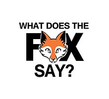 What does the fox say? Photographic Print
