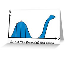 Bell Curve Greeting Card
