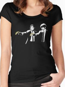 Banksy Pulp Fiction Women's Fitted Scoop T-Shirt