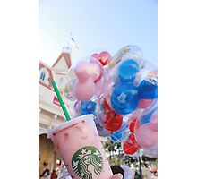 Pink Sips on Main St. USA Photographic Print