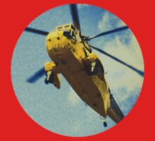 Sea King helicopter fly over One Piece - Short Sleeve