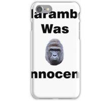 Harambe Was Innocent iPhone Case/Skin