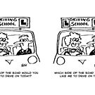 Driving Lesson - Pupil in the wrong seat by Nigel Sutherland