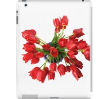 Red Tulips Flowers iPad Case/Skin