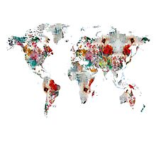 world map watercolors by bri-b