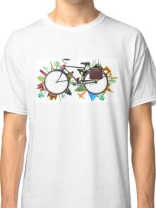 Global Bicycle round the world - save the planet design Classic T-Shirt