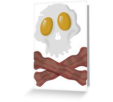 Egg Skull Bacon Greeting Card