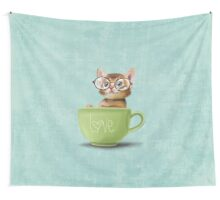 Kitten in a big cup Wall Tapestry