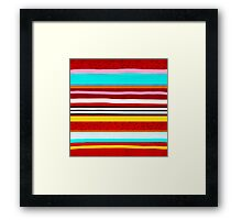 Watermelon Red Striped Colors Framed Print