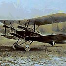 WWI SE5a single seat fighter 1917 by Dennis Melling