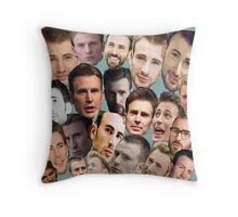 Chris Evans' face edits Throw Pillow