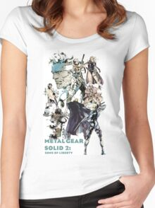 Metal Gear Solid 2: Sons of liberty Women's Fitted Scoop T-Shirt