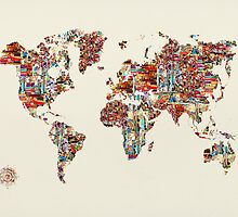 world map collage  by bri-b