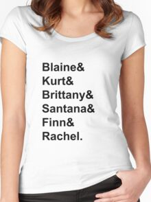 Glee Main Characters T-Shirt Women's Fitted Scoop T-Shirt