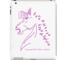 Save a Horse Free A Spirit purple outline iPad Case/Skin