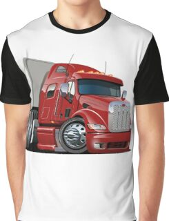 Cartoon Semi Truck Graphic T-Shirt
