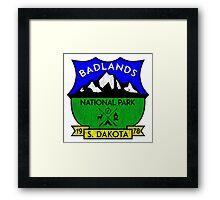 BADLANDS NATIONAL PARK SOUTH DAKOTA MOUNTAINS HIKING CAMPING HIKE CAMP HUNTING Framed Print